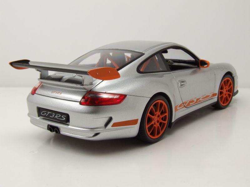 porsche 911 997 gt3 rs 2007 silber modellauto 1 18. Black Bedroom Furniture Sets. Home Design Ideas