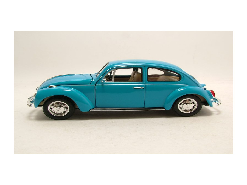 vw k fer 1969 blau modellauto 1 24 welly. Black Bedroom Furniture Sets. Home Design Ideas