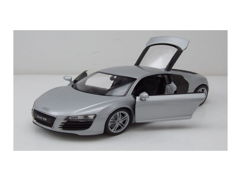 audi r8 silber modellauto 1 24 welly 19 95. Black Bedroom Furniture Sets. Home Design Ideas