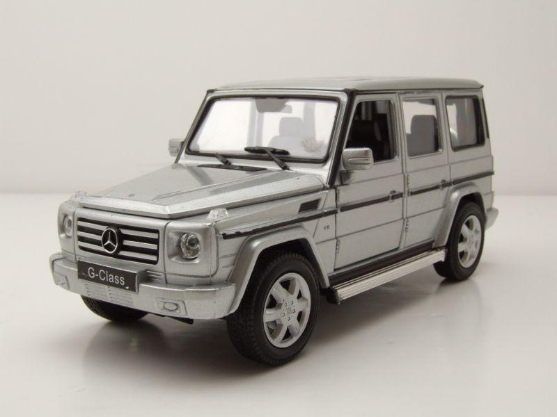 mercedes g klasse 2009 silber modellauto 1 24 welly 22. Black Bedroom Furniture Sets. Home Design Ideas