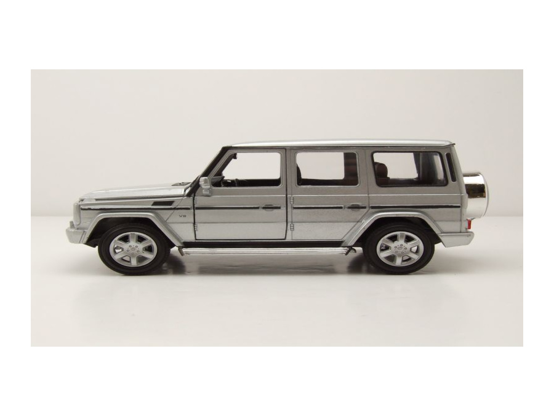 modellauto mercedes g klasse 2009 silber modellauto 1 24. Black Bedroom Furniture Sets. Home Design Ideas