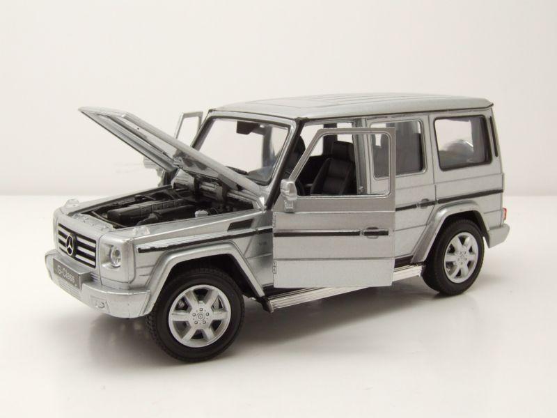 mercedes g klasse 2009 silber modellauto 1 24 welly. Black Bedroom Furniture Sets. Home Design Ideas