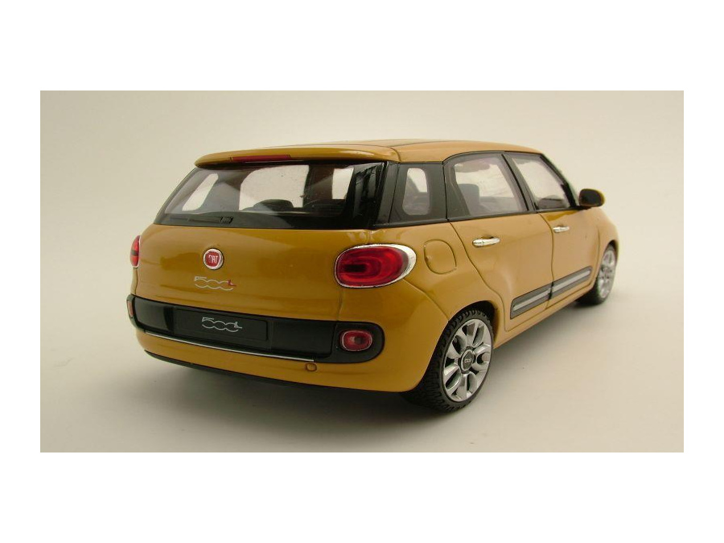 fiat 500 l 2013 gelb modellauto 1 24 welly 18 95. Black Bedroom Furniture Sets. Home Design Ideas